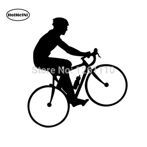 Pegatina de ciclismo HotMeiNi, amantes de la bicicleta de carretera, natación, carrera, ironman, triatlón, calcomanía de vinilo deportes para SUV, coche, ventana, parachoques, pared de casa