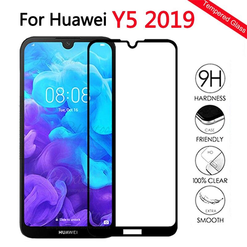Volle abdeckung Gehärtetem Glas Für Huawei Y5 2019 Glas Screen Protector Für Huawei huawey Y5 2019 AMN-LX1 y 5 2019 schutz Film