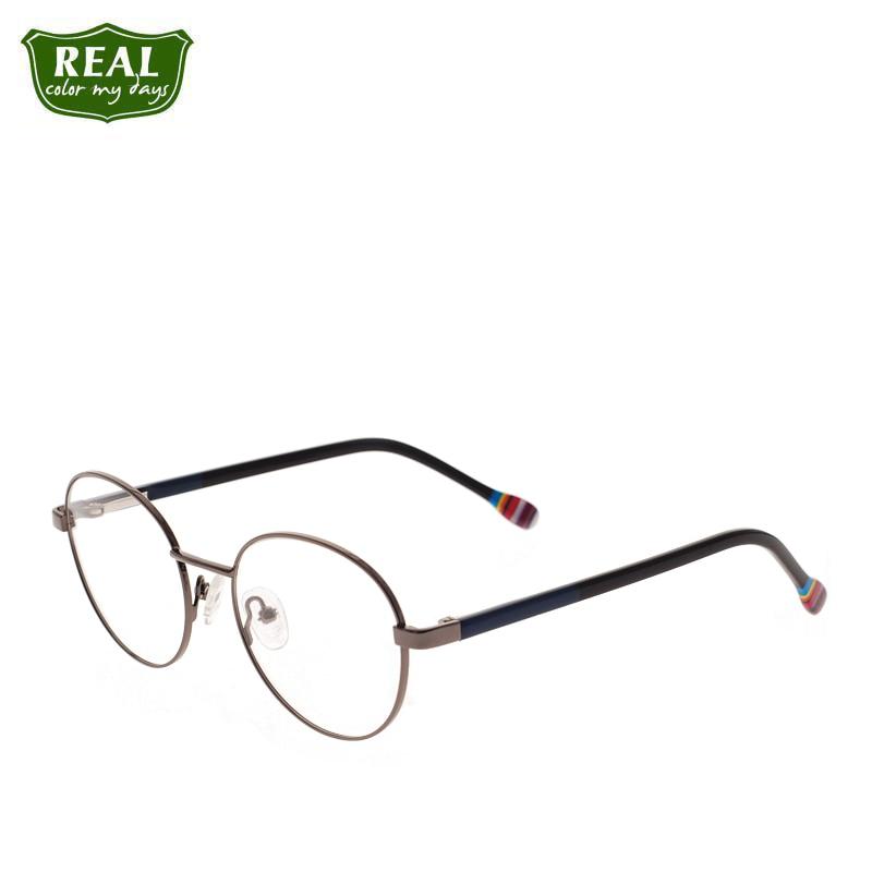 Metal frame Computer Glasses Optical Glasses Prescription Circular Glasses For kids Children eyeglasses  Myopia girl boy glasses