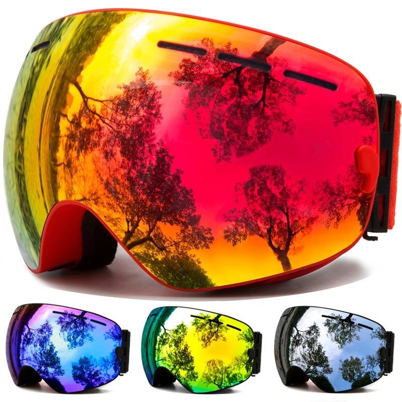 Ski Goggles,Winter Snow Sports Goggles with Anti-fog UV Protection for Men Women Youth Interchangeable Lens - Premium Goggles