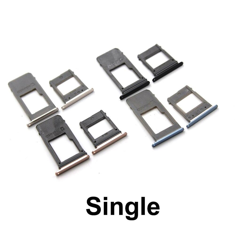 10 set For Samsung Galaxy A5 (2017) A520 A7 A720 Single Sim & Dual Sim SIM Card Tray Sim Slot SD Card Holder Adapter Spare Parts