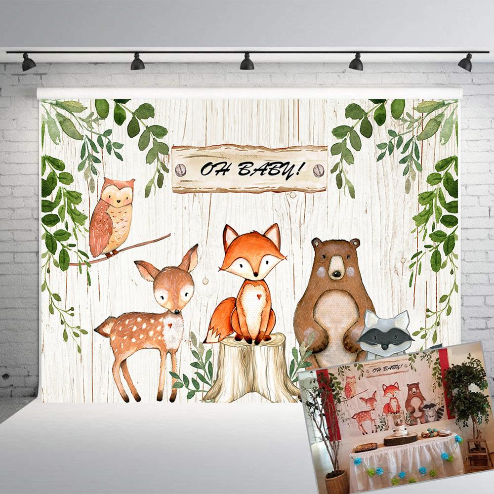 Jungle Animals Backdrop Baby Shower Safari Party Background   Birthday Party Decor Banner backdrop photography