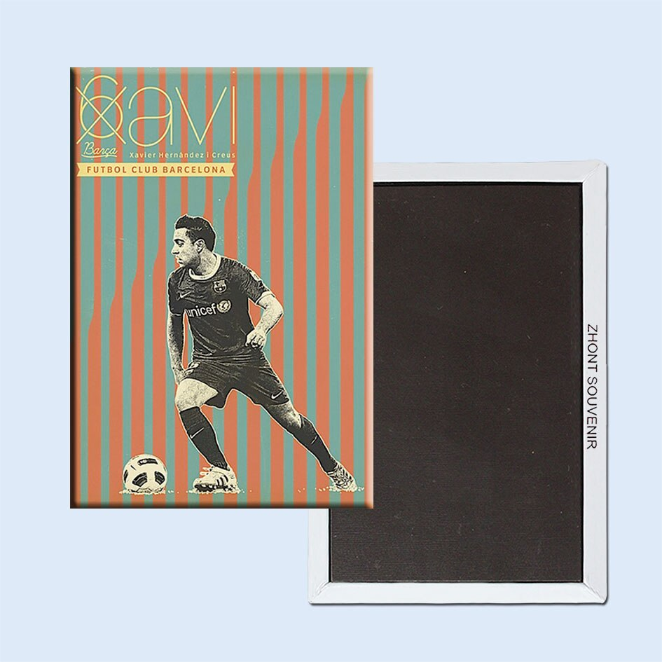 Póster Vintage Retro de Barcelona, Fútbol imán de nevera de pandezi, regalo...