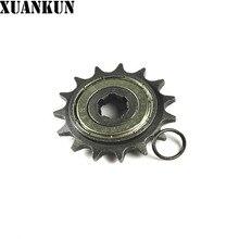XUANKUN moto Type 110 125 428 faisceau incurvé   Voiture à 15 dents, roue coulissante économiseur de carburant, petites pièces de pignon