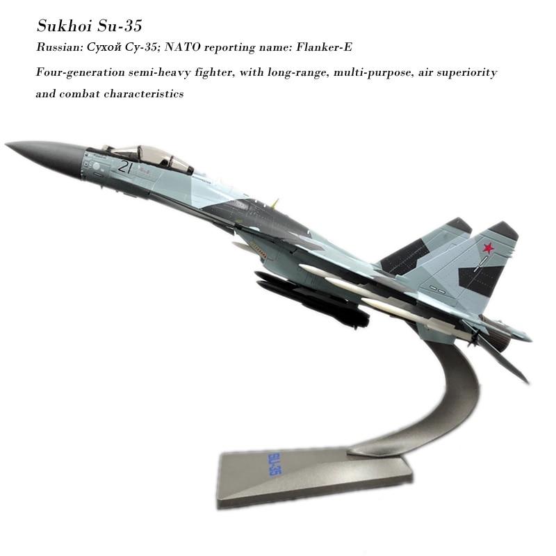 Terebo 1/72 Skala Sukhoi Su-35 Flanker-E/Super Flanker Kämpfer Diecast Metall Militär Flugzeug Modell Spielzeug Für Sammlung