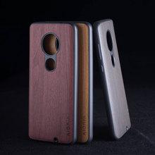 Étui design en bois pour Motorola Moto G7 Plus G5S Plus coque fundas couvre pour Motorola Moto G6 plus