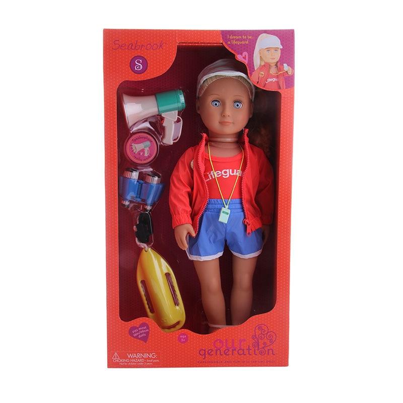 Luckdoll natação & surf equipamento apto 18 Polegada american & 43 cm bebê boneca roupas acessórios, menina brinquedos, geração, aniversário gif