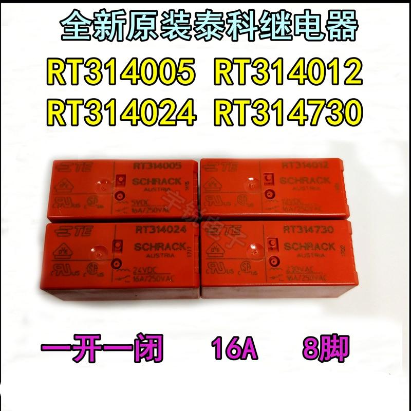 1 unids/lote relé de RT314005 RT314012 RT314024 16A 8PIN un conjunto de las conversiones