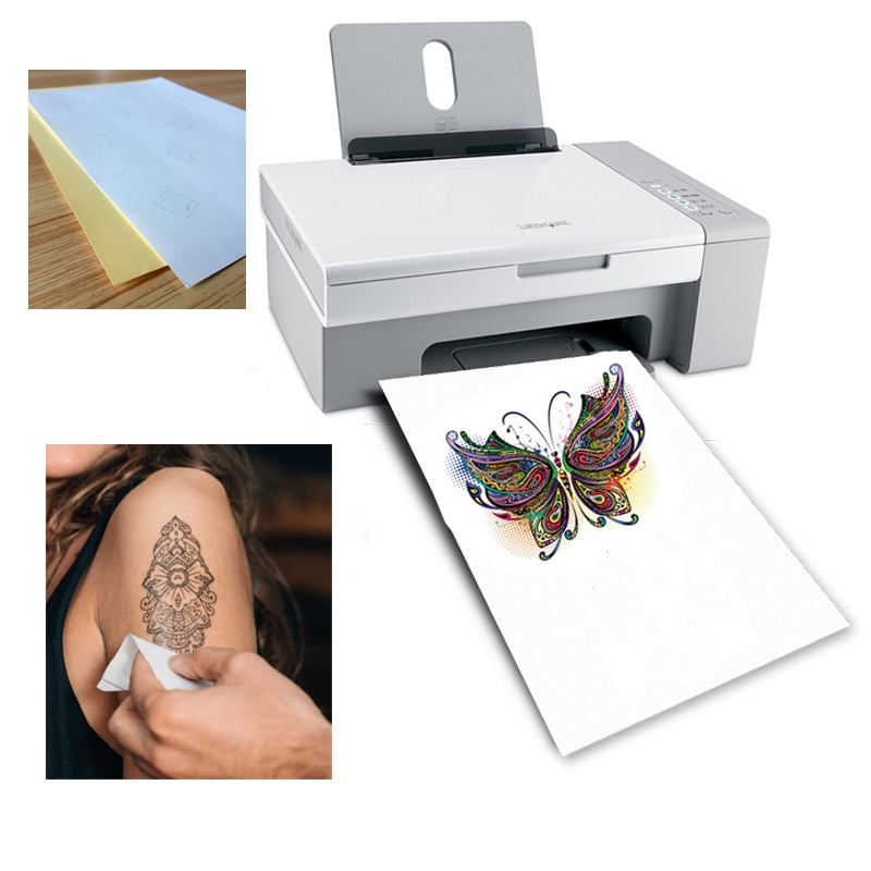 A4 бумага для художественных татуировок, водонепроницаемая Временная бумага для татуировки с струйными или лазерными печатными принтерами для мужчин и детей