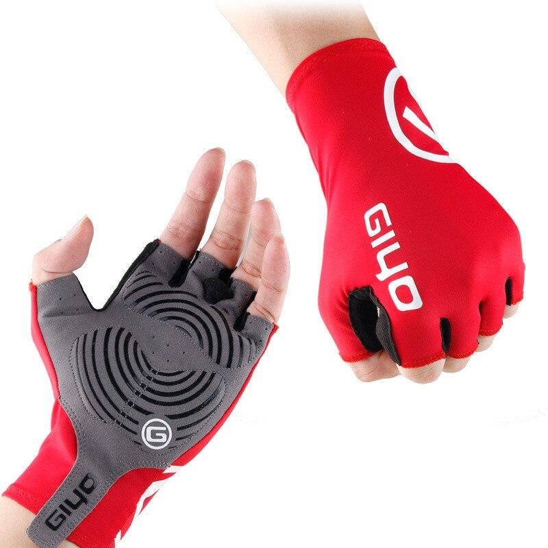 GIYO велосипедные перчатки с гелевой подкладкой, полупальцевые дышащие велосипедные перчатки, розовые/красные/черные/синие/зеленые S L 2XL Доро...