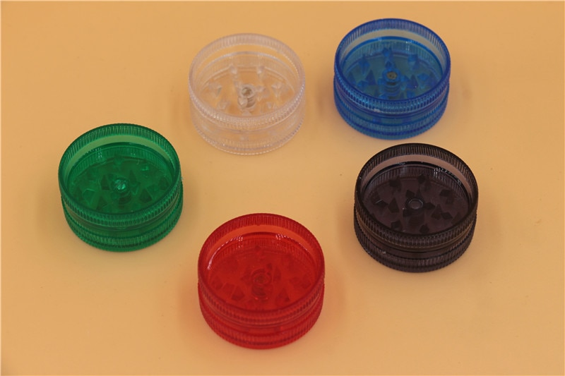 120pcs mini plastic herb grinder tobacco grinders cigarette smoke hand crank Crusher promotion gift cheap price for smoking pipe enlarge