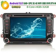 VW Amarok DAB +-lecteur DVD de voiture   Android 8.0, GPS, voiture, NAVI, WiFi, CD 4G, Radio RDS OBD BT, USB DVR, Bluetooth,