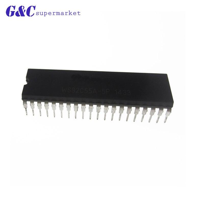 1/5 Uds WS82C55A-5P WS82C55 82C55A DIP-40 de buena calidad