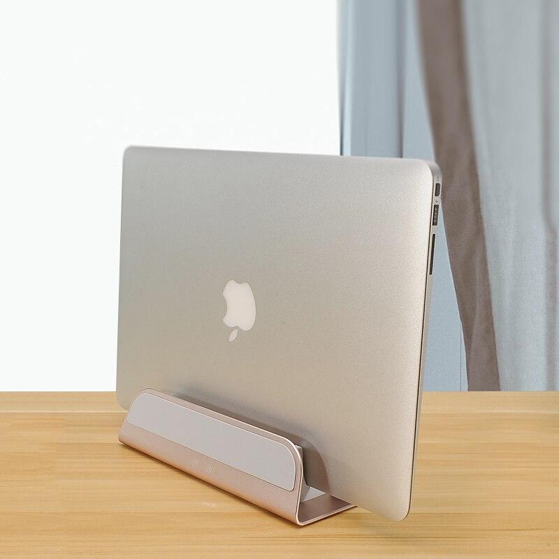 Liga de alumínio Laptop Notebook Stand Titular Suporte para Macbook Air Pro PC De Mesa De Luxo Computador Vertical Suporte de Metal Portátil