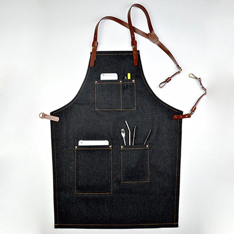 Горячая Распродажа джинсовый ковбойский фартук для женщин и мужчин готовки