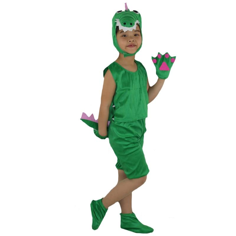 Disfraz de cocodrilo de manga corta para niños, disfraz para niños y niñas, vestido de fiesta de cumpleaños Purim Halloween
