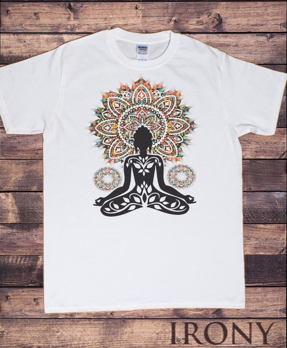 Hombres azteca Yoga Top Buda Chakra meditación Zen Hobo Boho-paz camiseta 2019 nueva moda Camiseta de manga corta