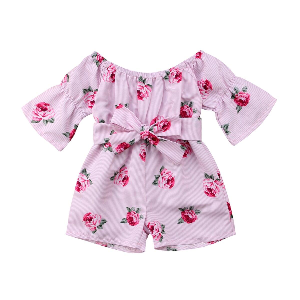Citgeett Zomer New Kids Baby Meisje Bloemen Paars Romper Zomer Jumpsuit Sunsuit Outfits Kleding Leuke Kleding 0-5Y