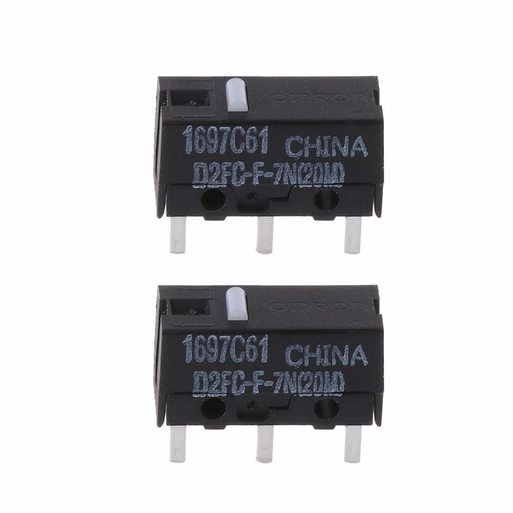 2 uds ratón Omron microinterruptor Original D2FC-F-7N 20m para Logitech RAZER