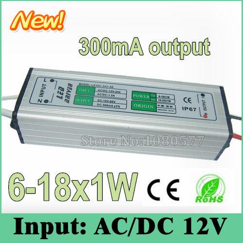 10 piezas LED impermeable LED conductor 300mA AC/DC12V w 7 w 7 w 9 w 10 w 12 w 15 controladores de corriente constante w 18 w 6-18x1W para iluminación LED