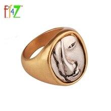 F. j4Z جديد تصميم الأزياء بسيط حزب خواتم الاصبع العصرية خمر الوجه أعلى سبائك خواتم للمرأة Anillos دي موخيريس