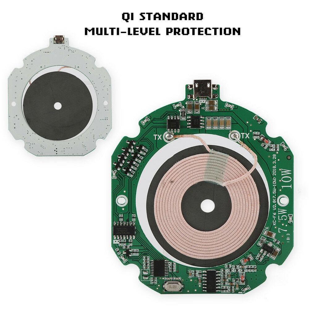 Alta calidad estándar 10W Qi Módulo de cargador inalámbrico rápido transmisor placa de circuito PCBA + bobina de carga DIY