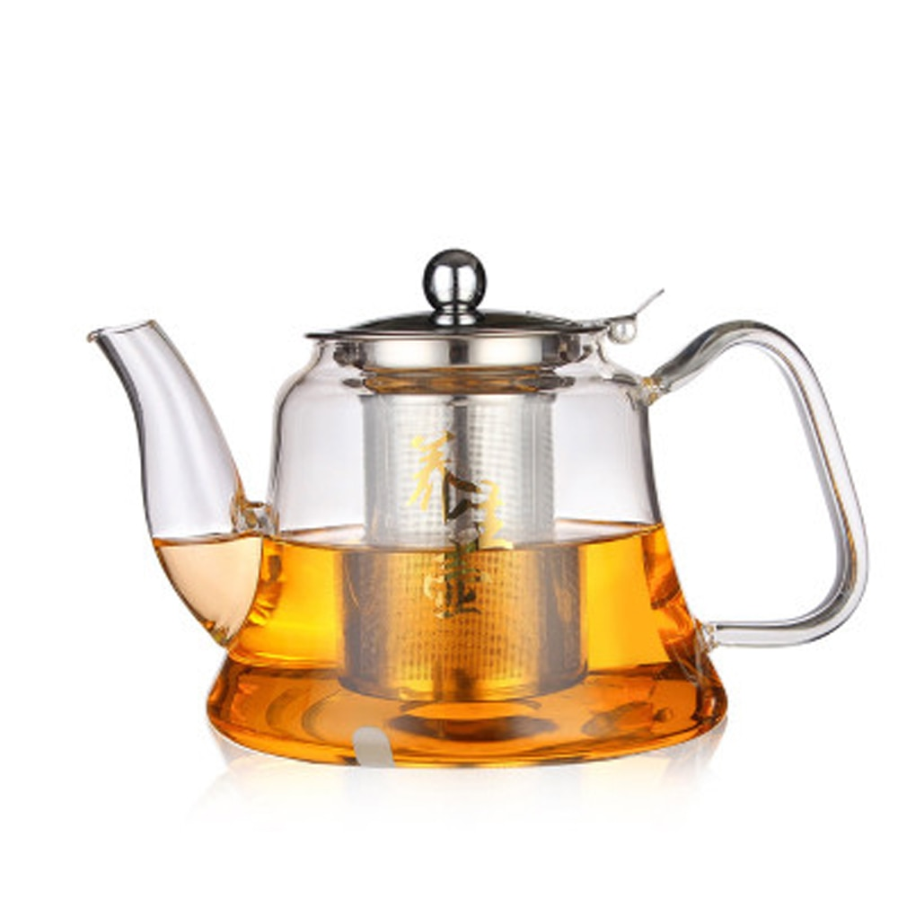 1000ml Best Borosilicate Glass Tea Pot with Density Mesh Strainer and Lid Red Tea Herbal Flower Blooming Tea Pot Kettle Teaware