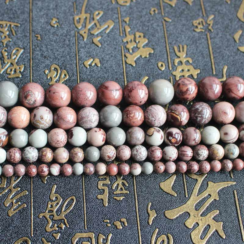 Natural Grass flower Round Beads 15inch ,Wholesale For DIY Jewellery Free Shipping !
