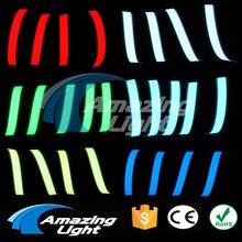 Neue Ankunft Sechs Farben Flexible Elektrolumineszenz Band EL Draht Glowing Mit DC 3 v 2 AAbattery Inverter