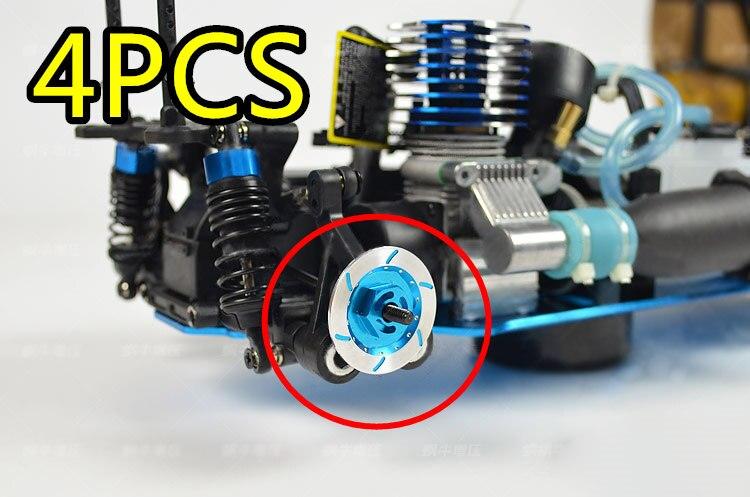 4pcs/ Set Alloy Metal Wheel Rim Brake Disc Hex 12mm Diameter 32mm For HSP 1:10 RC Car Spare Parts Fit Redcat Himoto Racing enlarge