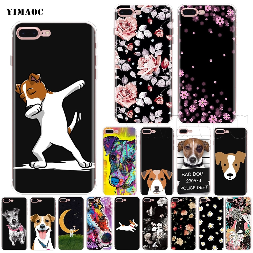 Мягкий силиконовый чехол YIMAOC Jack Russell Terrier для iPhone 11 Pro XS Max XR X 8 7 6 6S Plus 5 5S se