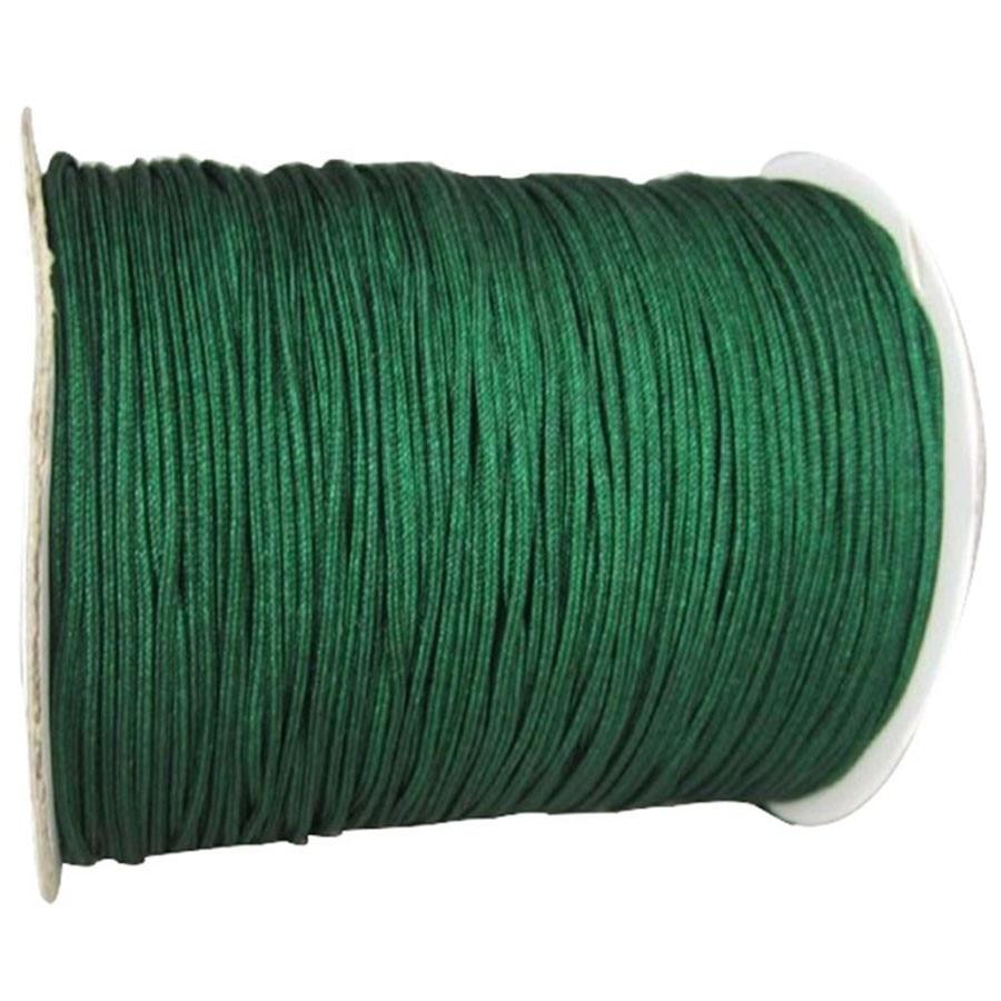 1mm Jungle Green Rattail Satin Braid Nylon Cord+350m Jewelry Accessories Thread Macrame Rope  Bracelet Beading String