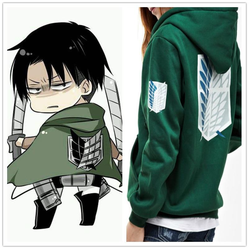 Angriff auf Titan Hoodies Jacke Sweatshirt Anime Shingeki keine Kyojin Legion Zipper Mit Kapuze Mäntel Cosplay Kostüm