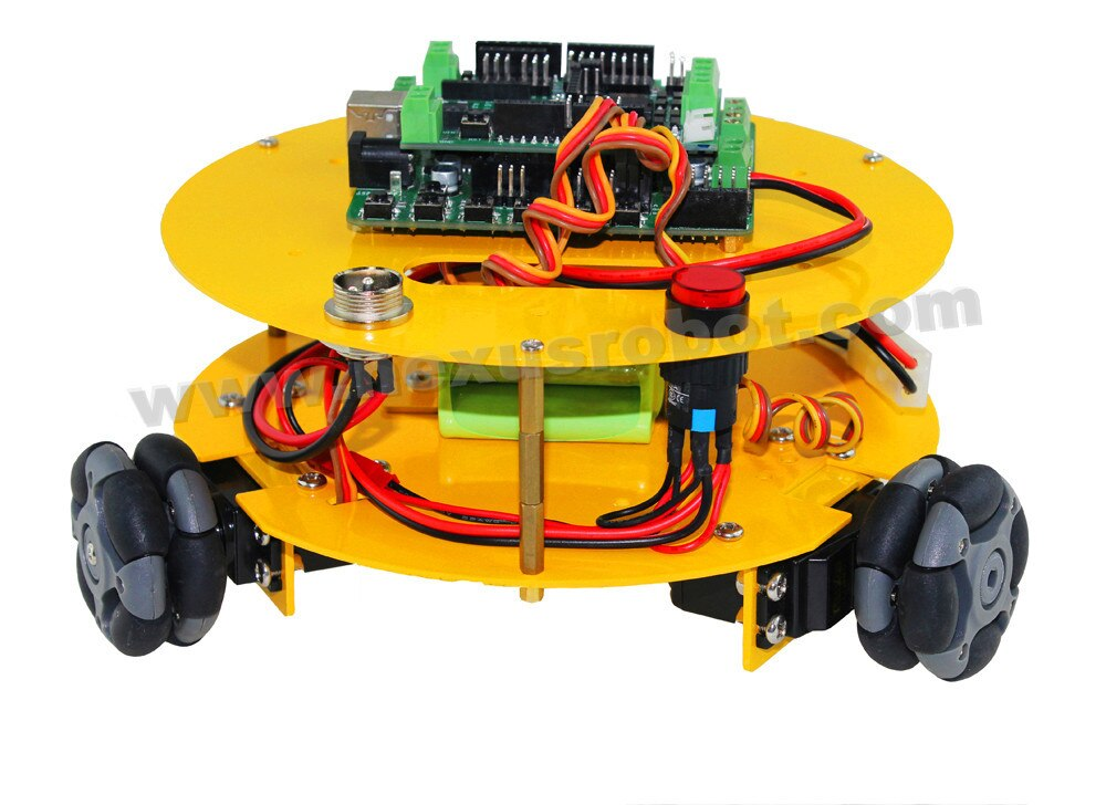 3 WD 48mm Omni Wielen Arduino compatibel Robotica auto 10014