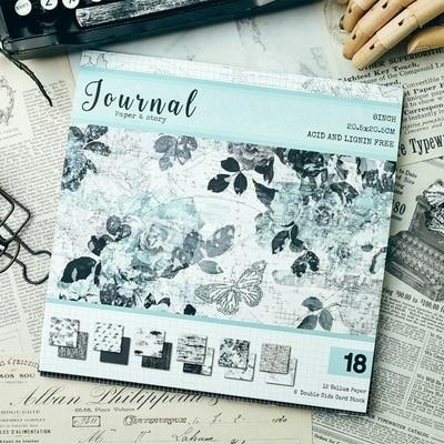 18sheets Vintage Sliver Foil Journal Sweet Memories Pattern Vellum Paper For Scrapbooking Happy Planner/Card Making/Diy Project