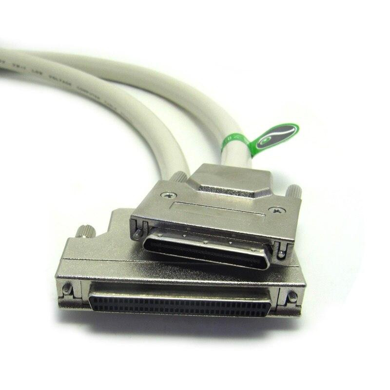 Cabo SCSI HPDB68 Fêmea para Cabo Masculino HPDB VHDCI68 68 Pinos Fêmea para Cabo VHDCI 68 V.68 Comprimento Da Personalização