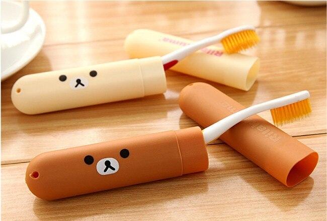1 unidad de caja de cepillo de dientes bonito, producto de baño, protege el soporte de la caja de cepillo de dientes, cubierta portátil para Camping, caja de almacenamiento para viajes, senderismo, EJE 0648