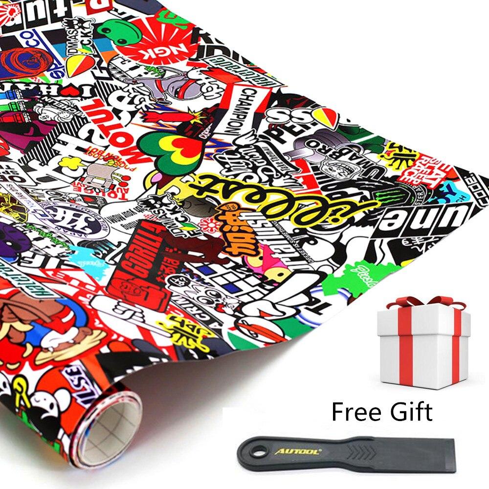 """152cm x 50cm 60 """"x 20"""" pegatinas y calcomanías de coche JDM dibujos animados Graffiti Car Styling accesorios para coche motocicleta bicicleta Laptop"""