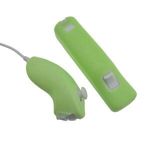 Image 5 - 4 цвета силиконовый чехол для Wii Nunchucks пульт дистанционного управления защитный чехол для пульта дистанционного управления Wii