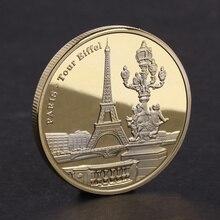 جميلة تذكارية عملة باريس برج بناء مجموعة الفنون الهدايا سبيكة