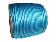 2mm Aqua Blue Rattail Satin Nylon Cord Jewelry Findings Accessories Macrame Rope  Bracelet Thread Beading Cord 60m/Roll