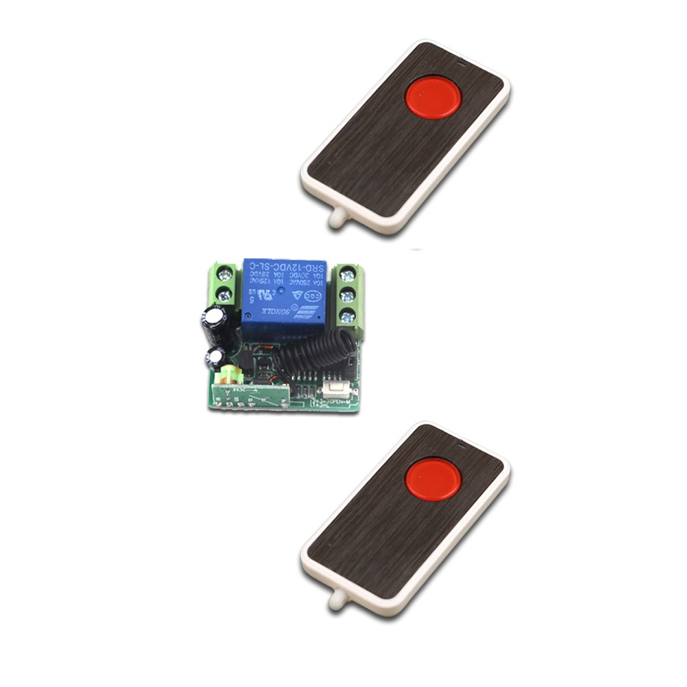 New DC12V Mini Wireless Remote Control Switch 1 Channal Intelligent Family System Receiver+2pcs Transmitter Free Shipping