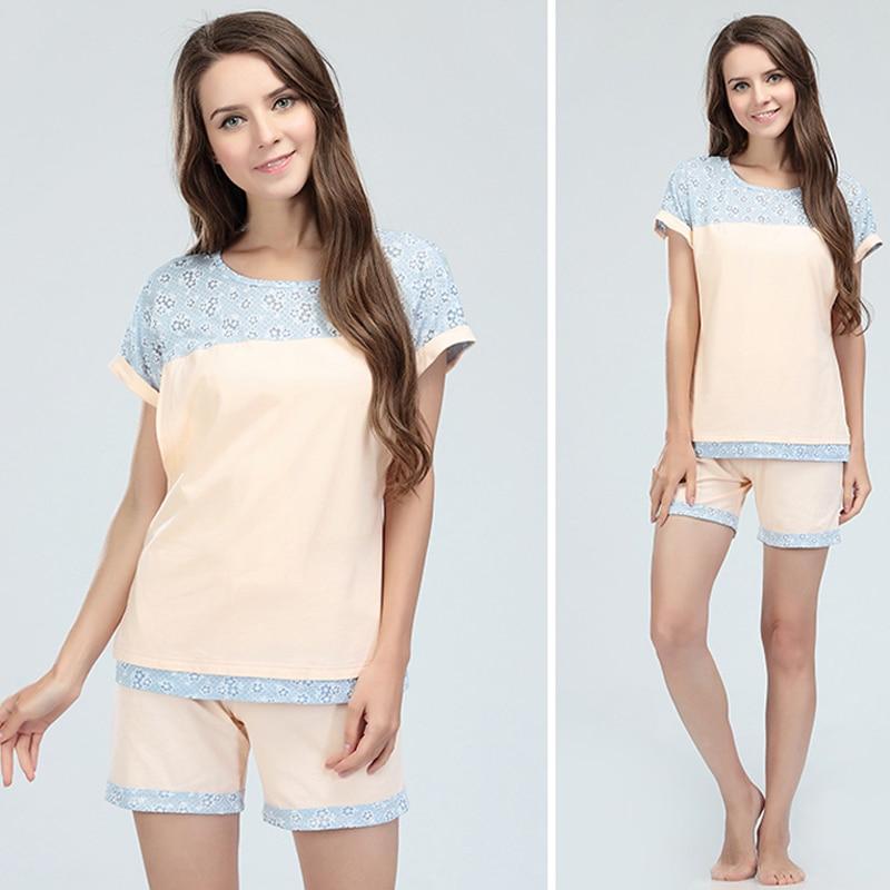 Emotion Moms Summer maternity sleepwear Set Breastfeeding Pajama nightwear With Opening Design Lactation Pajamas Suit enlarge