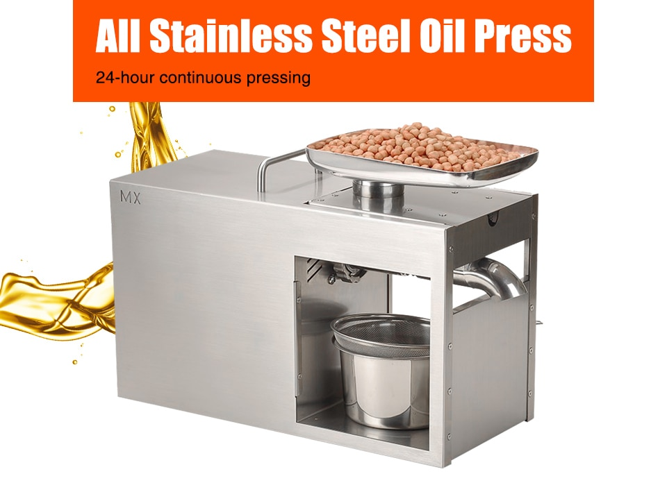 XEOLEO aceite de prensa de oliva Máquina De Prensa De Aceite frío y caliente de la prensa máquina de extracción de aceite para caballero de/nogal/de lino/Lino de semilla de sésamo/1500W
