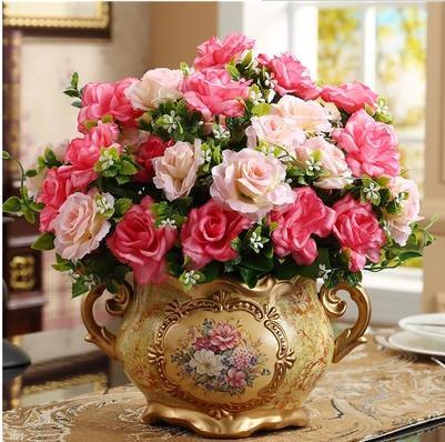 Creative ceramic vase, vintage pattern, home table decoration