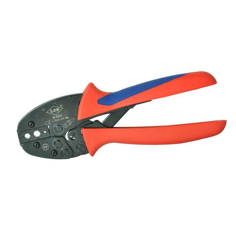 S-02H herramientas de prensado manual de alta calidad para engarzar conectores de cable coaxial, fibra óptica, alicates de trinquete Belden 8279