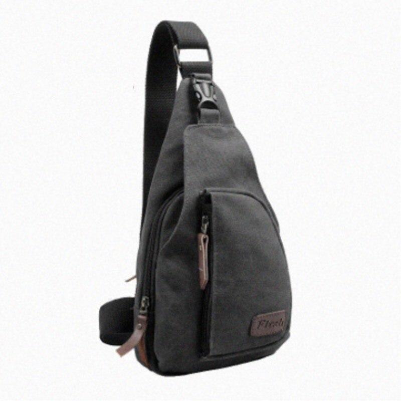 Bandolera a la moda para hombre, informal, de viaje, bolso cruzado de lona, bolso de hombro para hombre, bolso de viaje pequeño multifunción