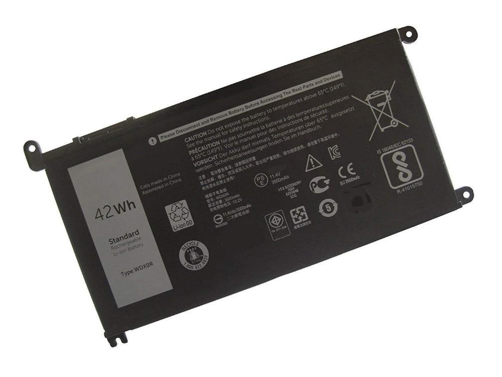 Ordenador portátil ordenador portátil/cuaderno 3CRH3 WDX0R batería para Dell Inspiron 5368, 5378, 7368, 7378, 5565, 5567, 5568, 5578, 7560, 7570 7579
