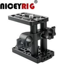 NICEYRIG Riser Quick Release Plate z 15mm Rod odciski, krótki pręt DSLR aparat fotograficzny łatwa bazy kamera na tablicę rejestracyjną ser statyw 1/4 3/8 śruba