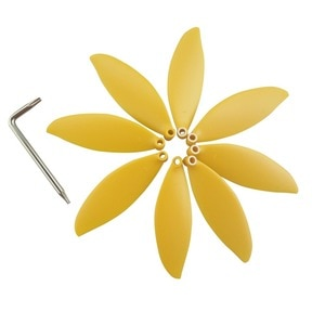 8PCS propeller for parrot anafi aerial four-axis drone propeller yellow paddle